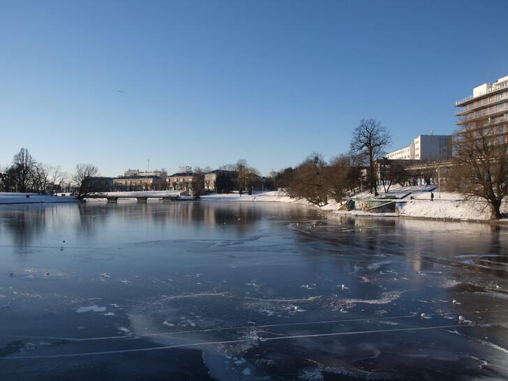 Нижний пруд зимой