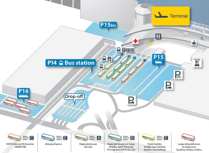 Схема платформ автовокзала аэропорта