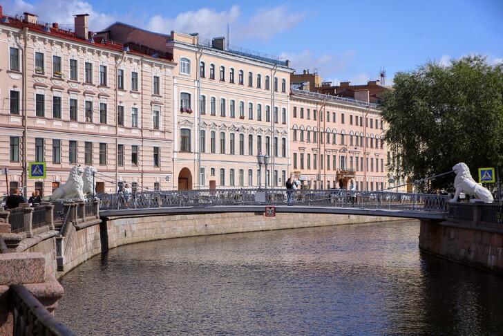Львиный мост на канале Грибоедова
