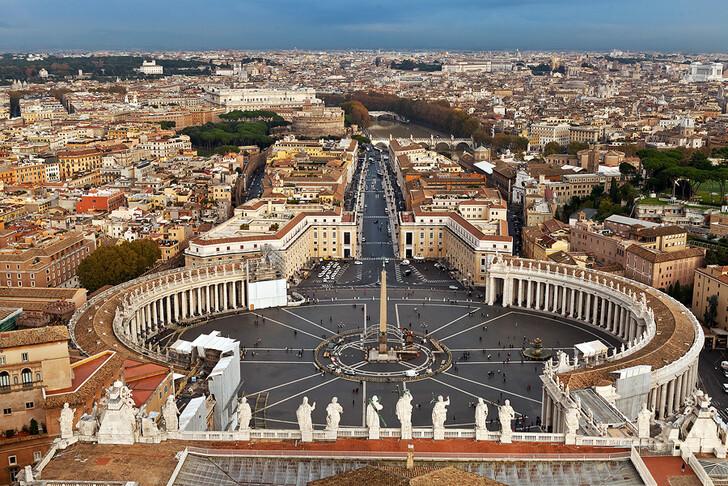 Ватикан и Рим со смотровой площадки собора Святого Петра