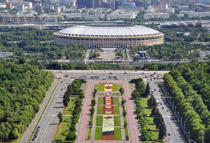 Воробьевы горы и стадион «Лужники»