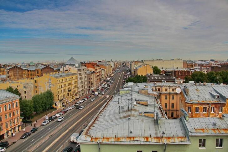 Вид с крыши лофта «Этажи»