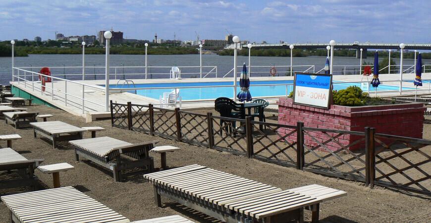 Центральный пляж «Динамо» в Омске