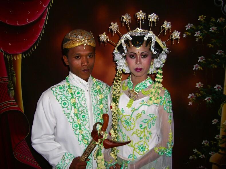 Свадьба в Джокьякарте на острове Ява.
