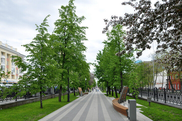 Бульвар на проспекте Ленина