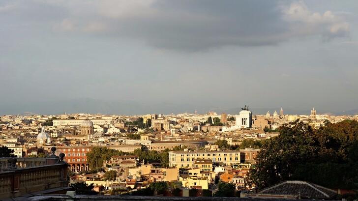 Вид на город с холма Яникул
