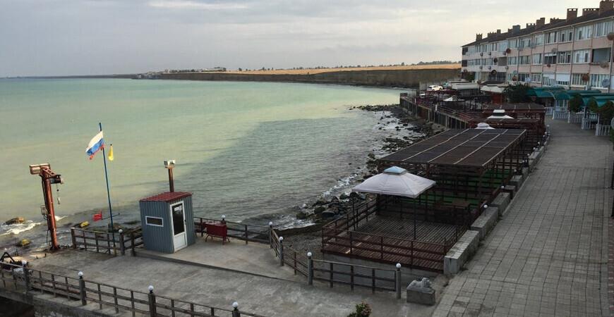 Пляж у эллингов «Дельфин» в Николаевке