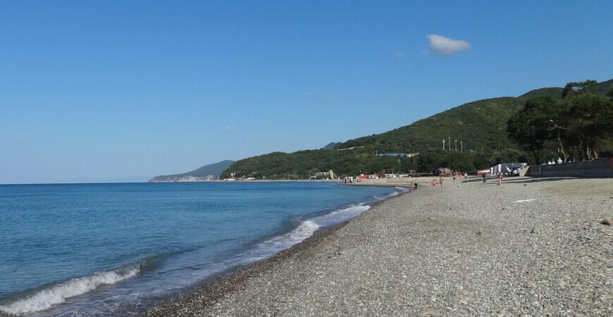 Пляж поселка Криница