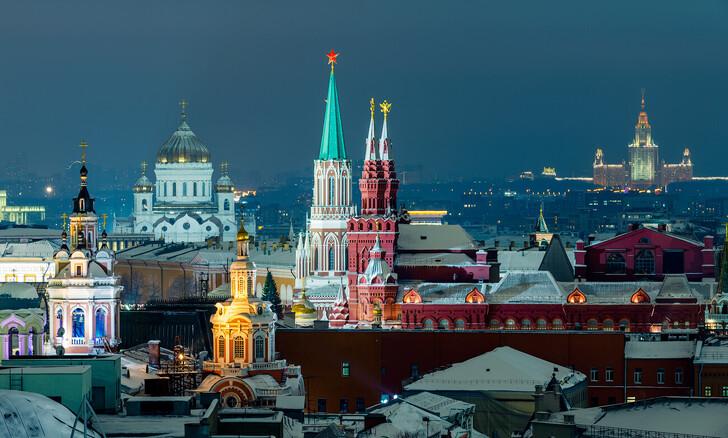 Фото Москвы вечером: вид с крыши ЦДМ