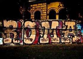 Граффити в Риме