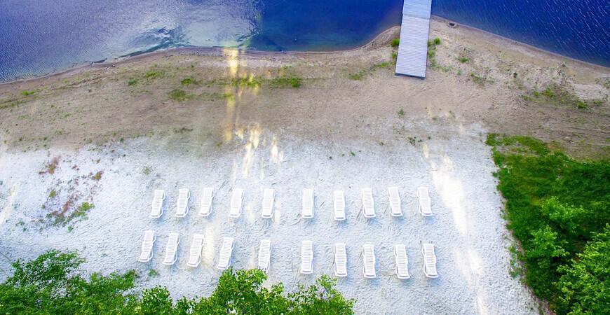Пляж базы отдыха «Остров»