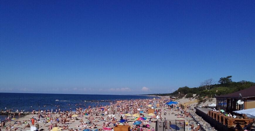 Пляж «Сковородка» в Зеленоградске