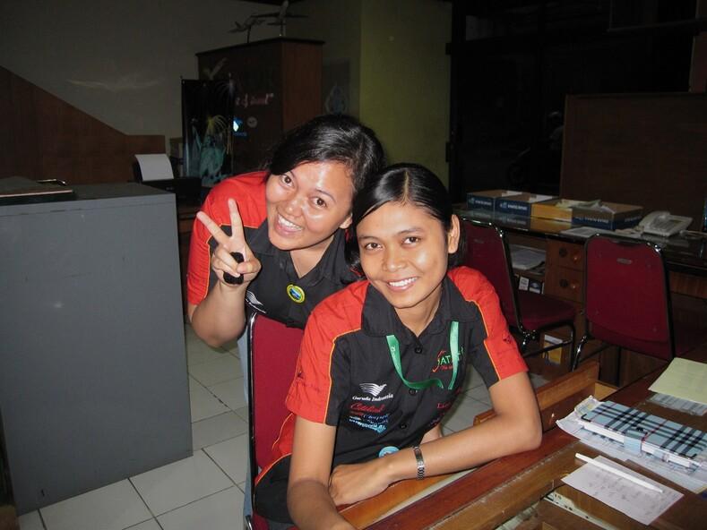 Индонезийские девчата.