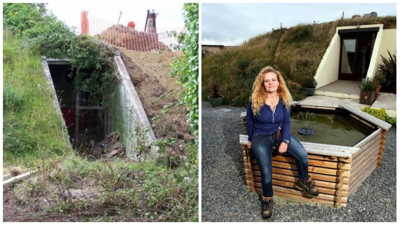 Женщина купила бункер времен Второй мировой войны и превратила его в уютный дом (фото необычного жилища)