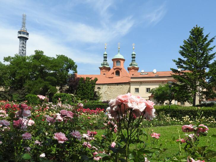 Петршинская башня (слева)