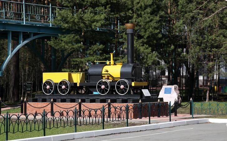Паровозик в Заельцовском парке