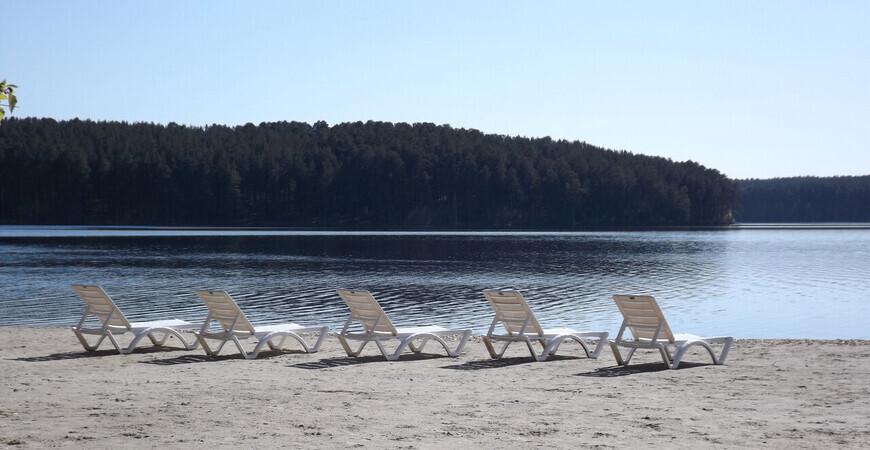 Пляж базы отдыха<br/> «Белый парус»