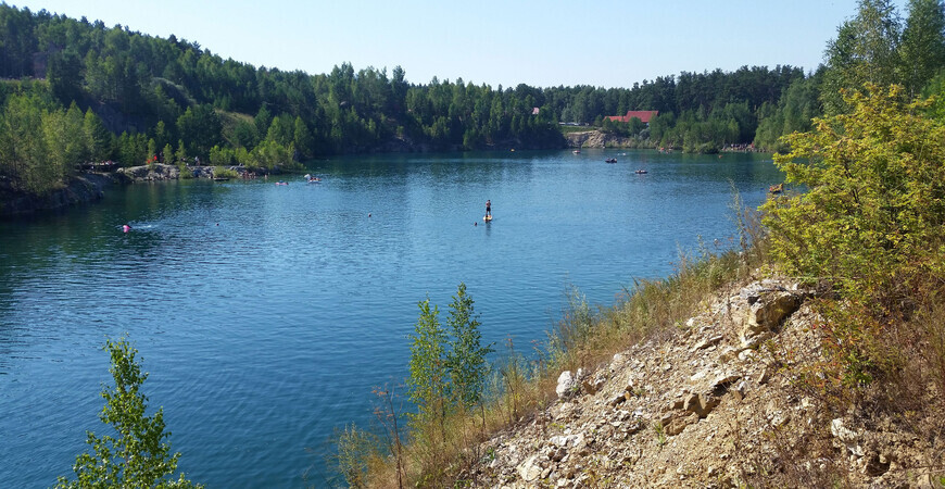 Мраморное озеро в Абрашино