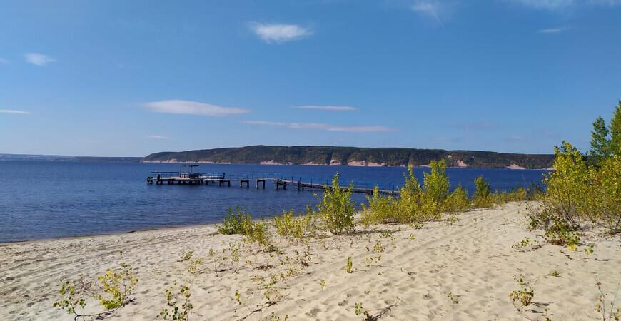 Пляж базы отдыха «Бережок» в Казани