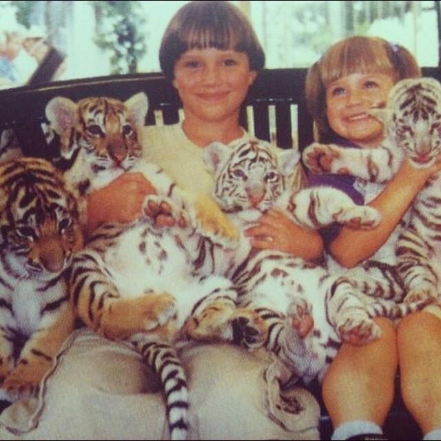 Коди с сестрой и тигрятами