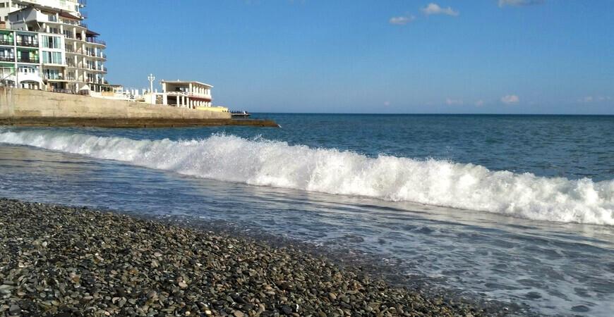 Пляж пансионата «Донбасс»