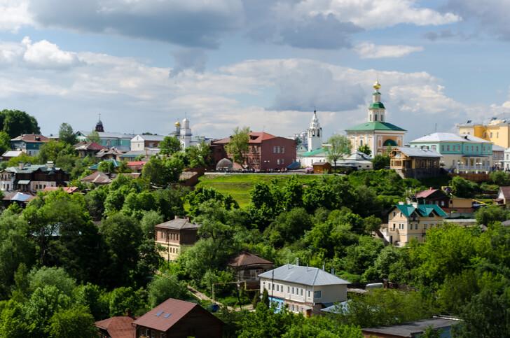 Вид на Владимир со смотровой площадки