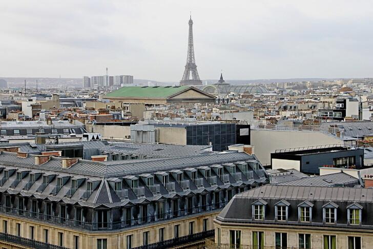 Вид с крыши «Галереи Лафайет»