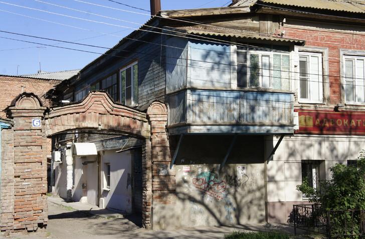 Деревянная застройка Астрахани