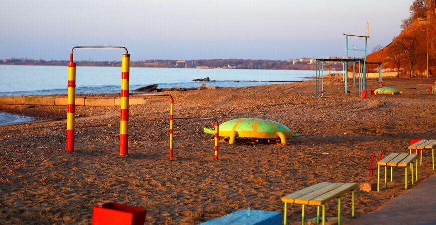 Центральный пляж в Таганроге