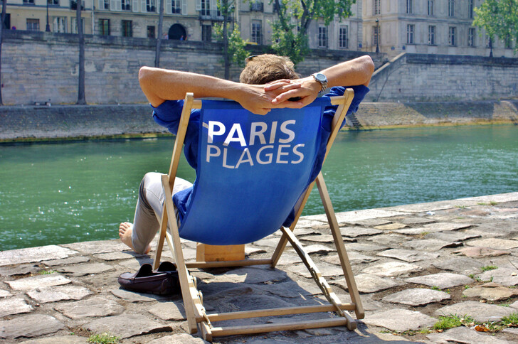 Пляж проекта Paris Plages