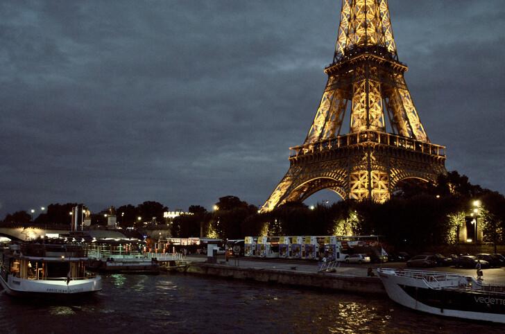 Ночной круиз на кораблике по Сене