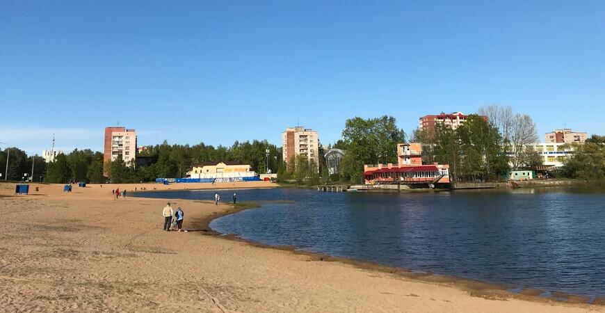 Пляж на Ольгинском пруду