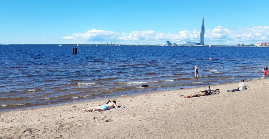 Пляж на Васильевском острове