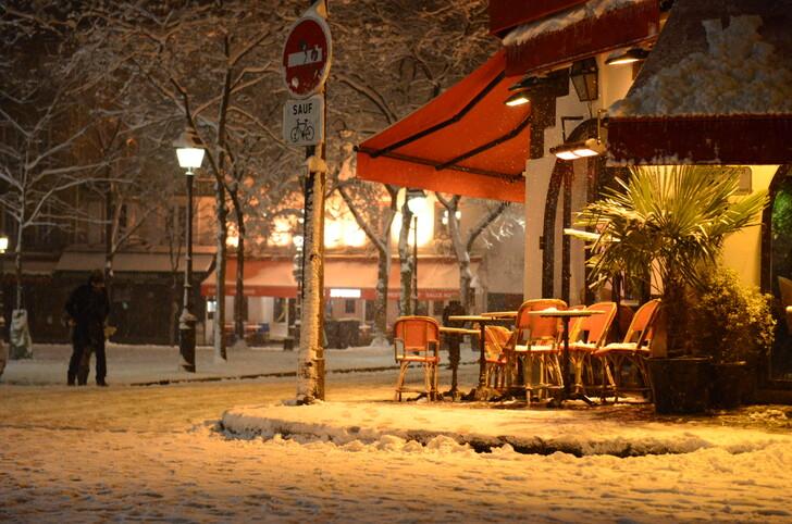 Площадь Тертр в снегу