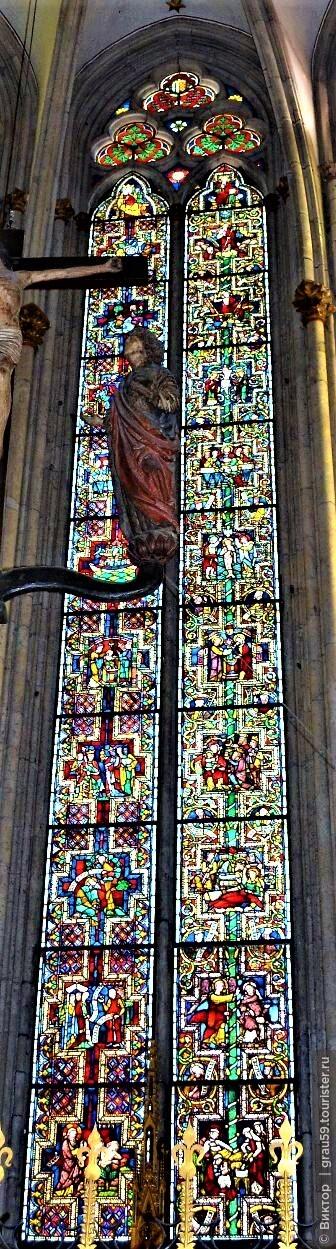 Кельнский собор. Часть 6. Старейший витраж собора и баварские витражи