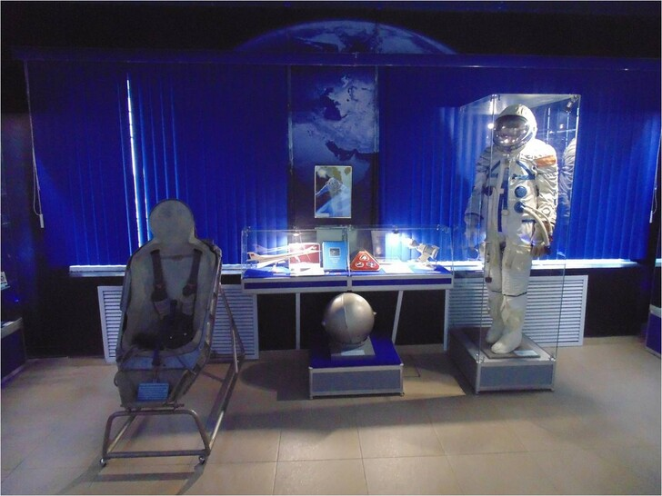 Экспозиция музея истории космонавтики им.Ф.А. Цандера