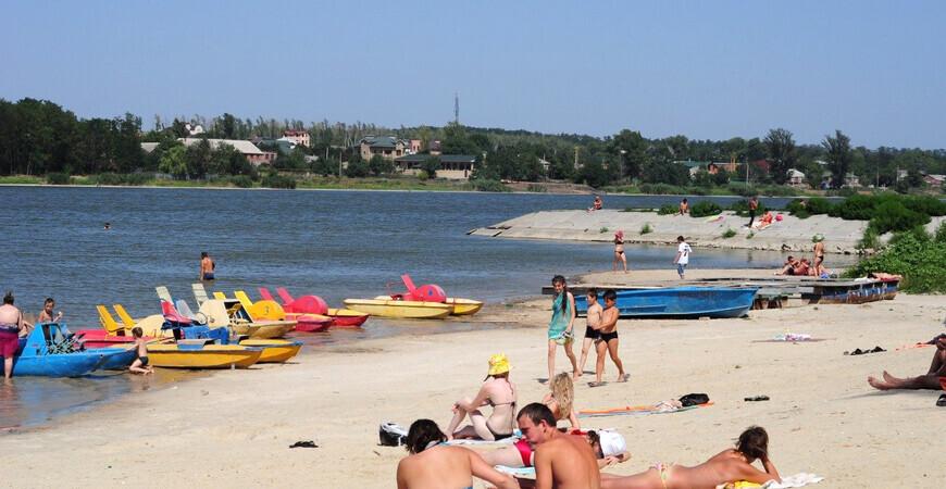 Пляж на Ростовском море