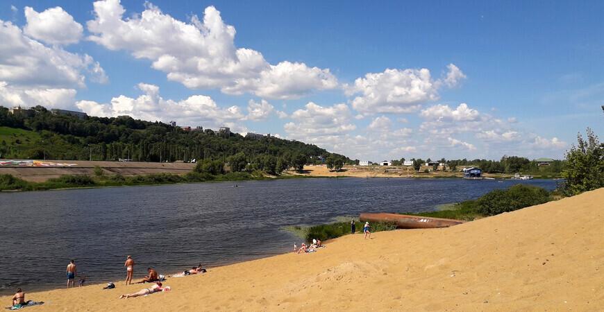 Пляж Гребного канала в Нижнем Новгороде