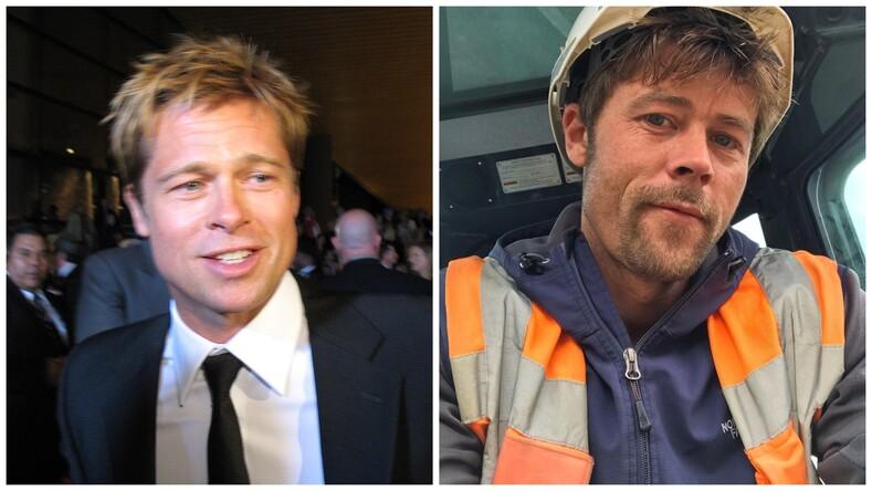 В Великобритании нашли двойника Брэда Питта, который работает обычным строителем: как живет мужчина, и что изменилось с приходом интернет-славы