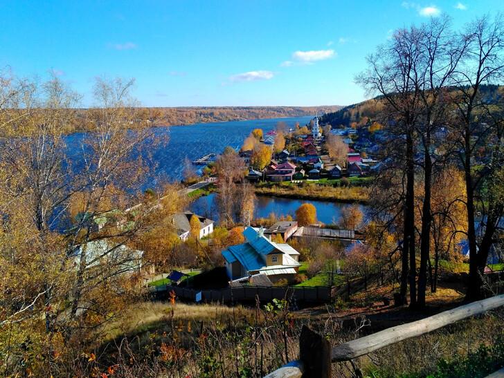 Городок Плёс в Ивановской области