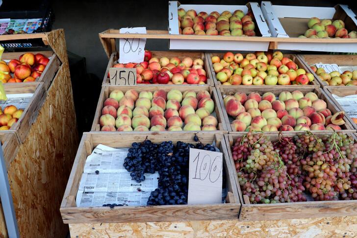 Крымские фрукты с ценами