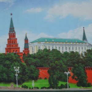 Московский Кремль и матрёшки