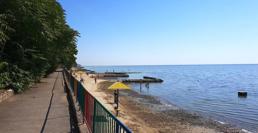 Приморский пляж в Таганроге