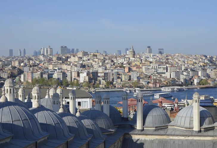 Вид на Стамбул от мечети Сулеймание