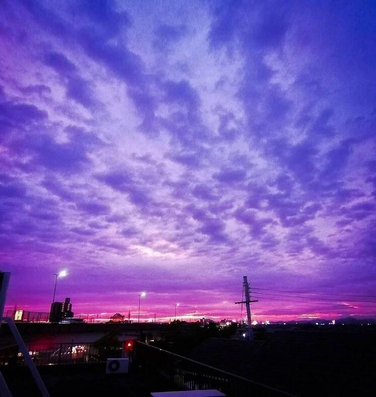 Знамение: цвет неба стал предвестником одного из самых сильных тайфунов, обрушившихся на Японию
