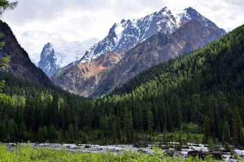 Туристка упала в расщелину в горах Алтая