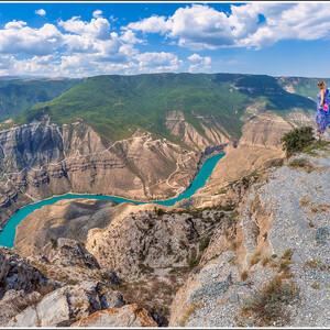 Фантастический Сулакский каньон! Глубина достигает 1920 метров.