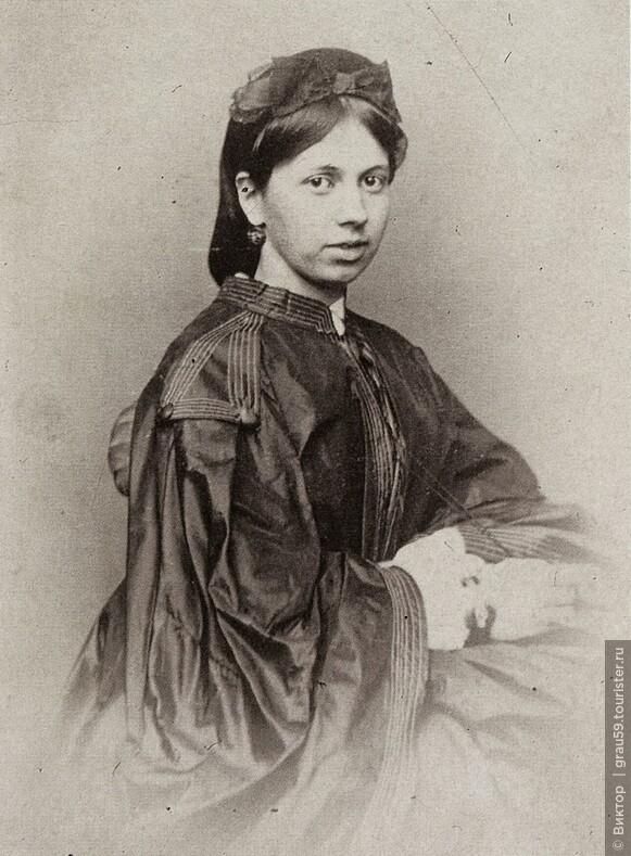 Софья Берс невеста. Фотография М. Б. Тулинова. 1862 г.(Из Интернета)