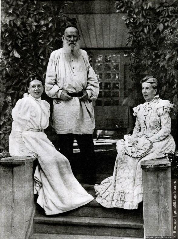 Лев Толстой с сестрами Софьей и Татьяной Берс (Из Интернета)