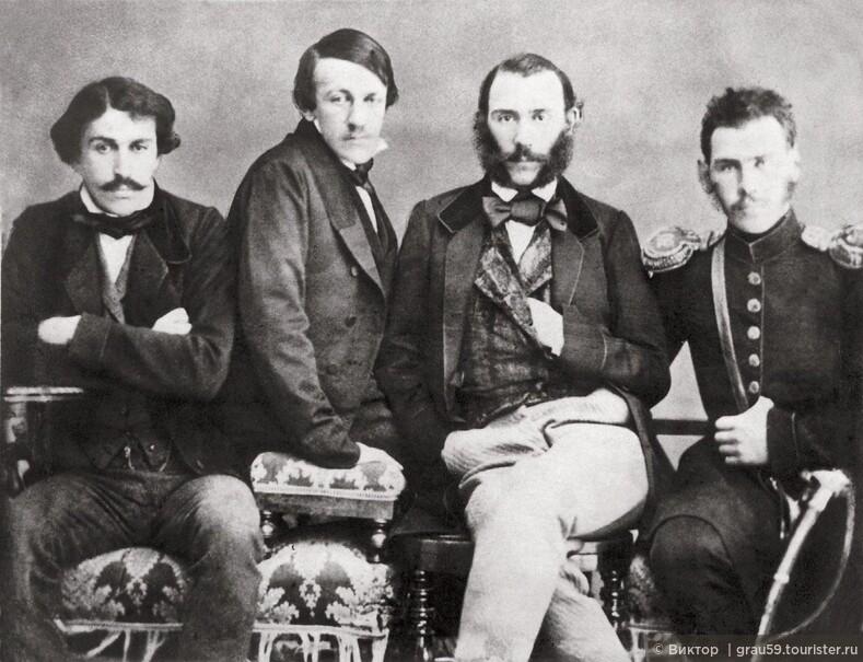 Братья Толстые Сергей, Николай, Дмитрий и Лев, февраль 1854 года, Москва (Из Интернета)